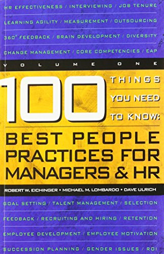 9780974589206: 100 Things You Need to Know : Best Practices for Managers and HR