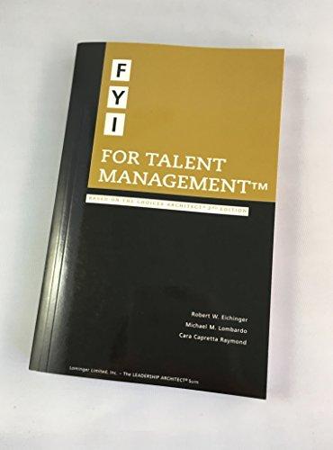 FYI for Talent Management: Michael M. Lombardo