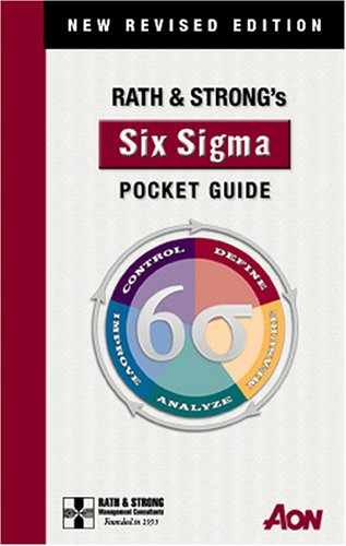 9780974632872: Rath & Strong's Six Sigma Pocket Guide: New Revised Edition