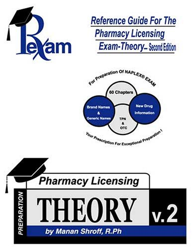 Reference Guide For Pharmacy Licensing Exam-Theory Second: Manan H Shroff
