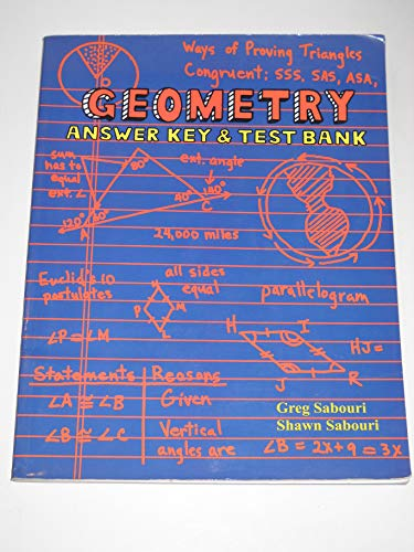 9780974903613: Geometry Answer Key and Test Bank