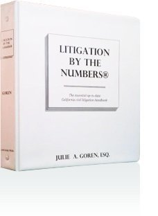 9780974936147: Litigation By the Numbers Binder + California Civil Litigation and Discovery