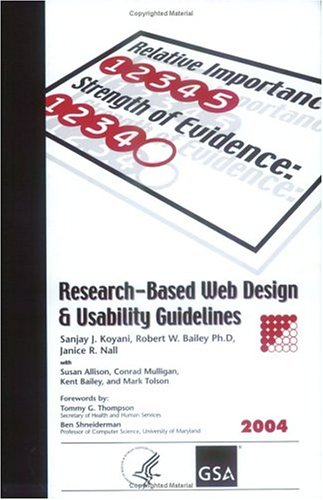 Research-Based Web Design & Usability Guidelines: Koyani, Sanjay J.;