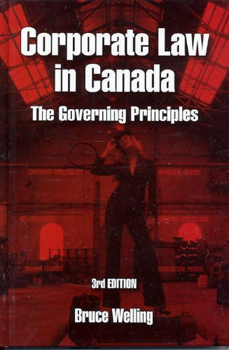 9780975073742: Corporate Law in Canada: The Governing Principles