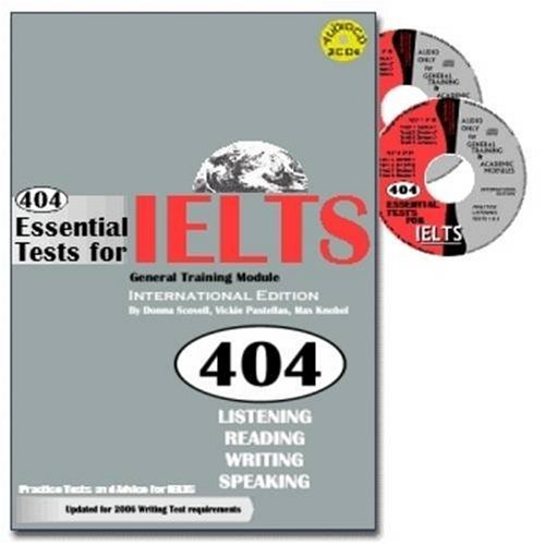 9780975183243: 404 Essential Tests for IELTS: Practice Tests for IELTS: General Training Module Book