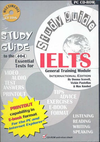 9780975183298: 404 Essential Tests for IELTS Study Guide - General CD-ROM: General Training Module: General Training Module Study Guide Book