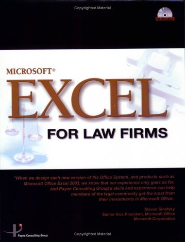 9780975336816: Excel For Law Firms