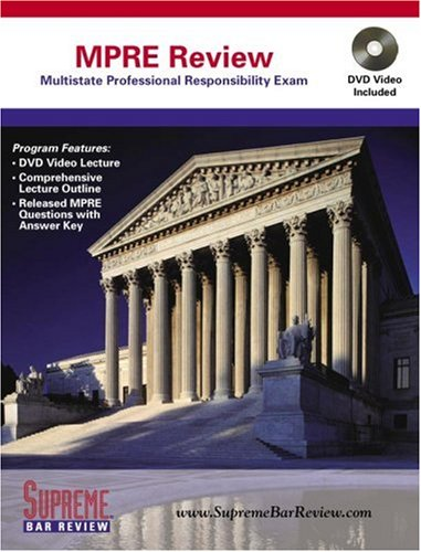Supreme Bar Review MPRE Review, Revised Edition (Book & DVD): Lazarus, Professor Stephen