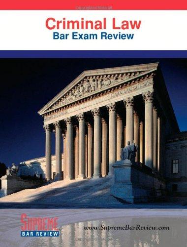 9780975496978: Criminal Law: Bar Exam Review