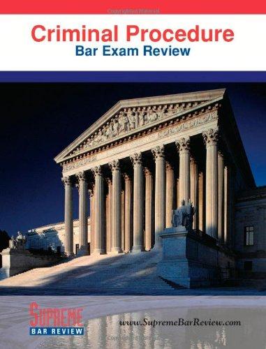 9780975496985: Criminal Procedure: Bar Exam Review