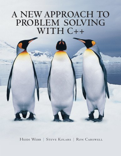 9780975514382: A New Approach to Problem Solving with C++