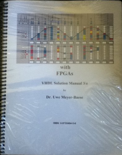 DSP with FPGAs VHDL Solution Manual 3. Edition: Uwe Meyer-Baese