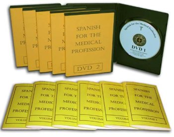 9780975855027: Spanish for the Medical Profession - DVD Course: 6 DVDs plus 6 Books