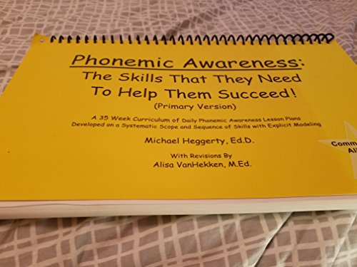 9780975957509: Phonemic Awareness: The Skills That They Need to Help Them Succeed!
