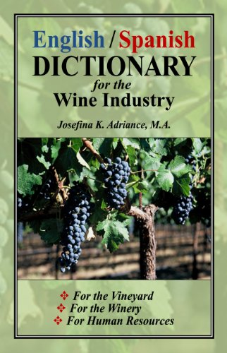 9780976000112: English/Spanish Dictionary for the Wine Industry (English and Spanish Edition)