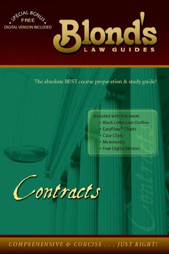 9780976035114: Contracts (Blond's Law Guides)