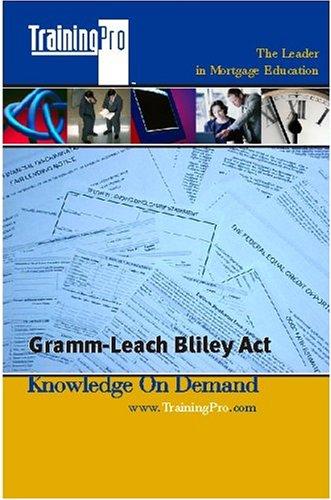 9780976047322: Gramm-Leach Bliley Act