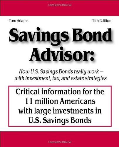 9780976064534: Savings Bond Advisor
