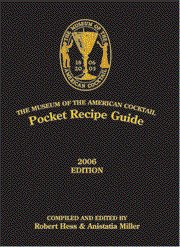 9780976093725: Museum of the American Cocktail Pocket Recipe Guide
