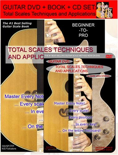 GUITAR DVD + BOOK + CD Total Scales Techniques and Applications: Mark John Sternal