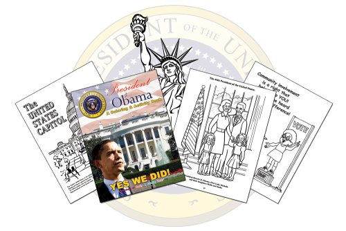 9780976318682: President Barack Obama A Coloring & Activity Book