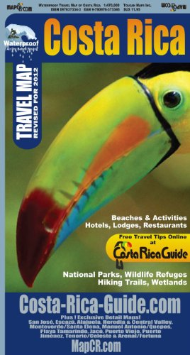 9780976373346: Waterproof Travel Map of Costa Rica