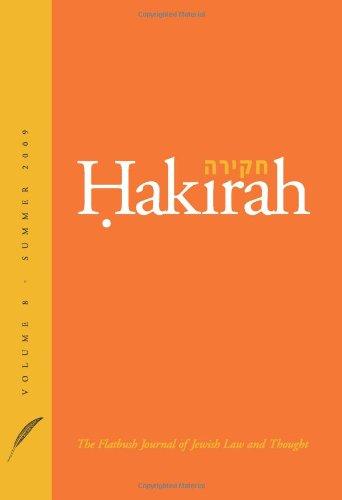 Hakirah: The Flatbush Journal of Jewish Law: Zelcer, Heshey; Shapiro,