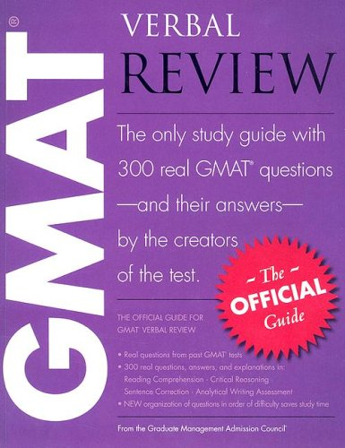 9780976570912: The Official Guide for GMAT Verbal Review