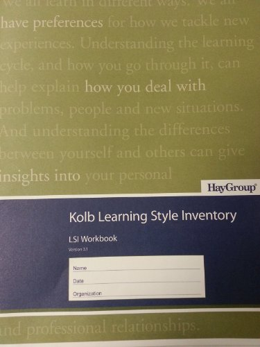 Kolb Learning Style Inventory (Pack of 10 Booklets): David A. Kolb