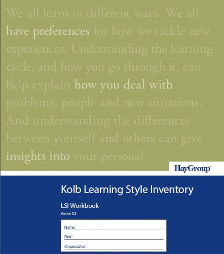 9780976649571: Kolb Learning Style Inventory Version 3.2 Single Copy