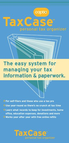 9780976661429: Captio TaxCase: The easy system for managing your tax information and paperwork.
