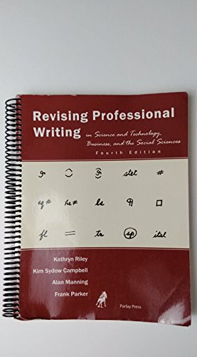 Revising Professional Writing in Sciences and Technology,