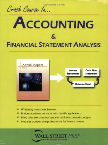 Crash Course in Accounting & Financial Statement: Wall Street Prep,