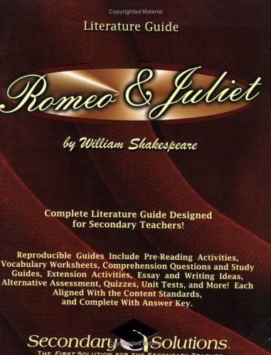 9780976817758: Literature Guide: Romeo and Juliet (Secondary Solutions LLC)