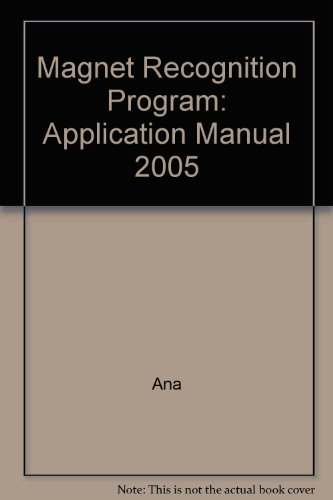 Magnet Recognition Program: Application Manual 2005 (9780976821359) by Ana