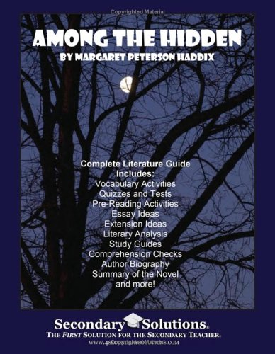 among the hidden literature guide secondary  9780977229505 among the hidden literature guide secondary solutions llc teacher guide
