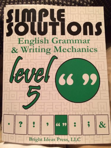"""Simple Solutions: Minutes a Day-Mastery for a Lifetime!"""" level 5 English Grammar & Writing..."""