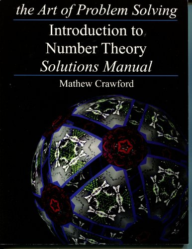 9780977304554: The Art of Problem Solving: Introduction to Number Theory - Solutions Manual