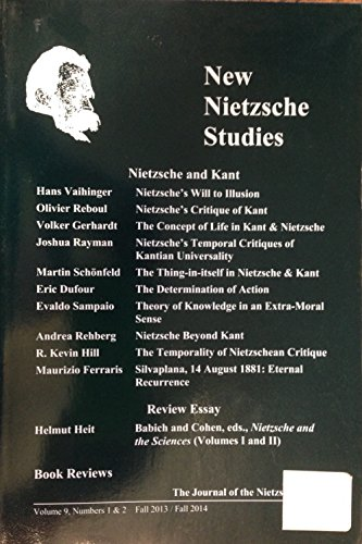 9780977311033: New Nietzsche studies : the journal of the Nietzsche Society.