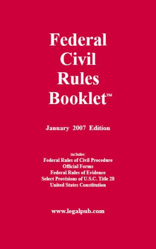 Federal Civil Rules Booklet: Staff