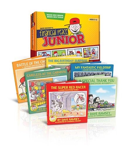 Juniors Adventures:the Boxed Set 9780977489589 Your children can join Junior in his life adventures! Transform their futures with these colorful and entertaining books by teaching them how to handle money NOW. From working and saving to giving and spending, these wonderful stories will teach real life stuff, and the stories are so fun your children won t even know they are learning! Each book is illustrated by award-winning cartoonist Marshall Ramsey. Recommended for kids ages 3-10.