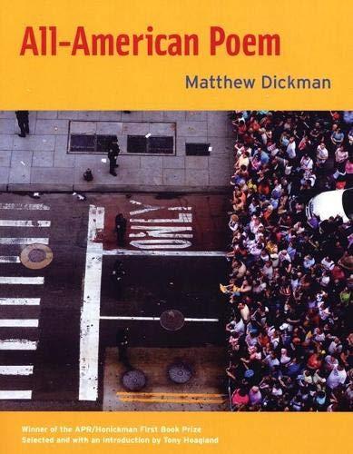 9780977639540: All-American Poem (Apr Honickman 1st Book Prize)