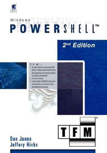 9780977659760: Windows PowerShell v1.0: TFM, 2nd Edition