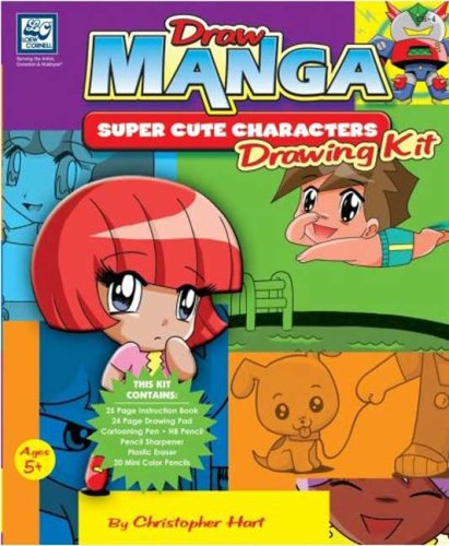 Draw Manga Super Cute Characters Drawing Kit (0977692531) by Christopher Hart