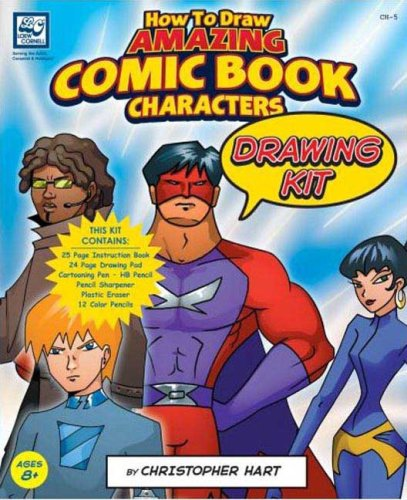 9780977692545: How to Draw Amazing Comic Book Characters: Drawing Kit )