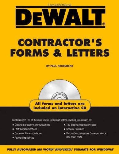 9780977718320: DEWALT Contractor's Forms & Letters (DEWALT Series)