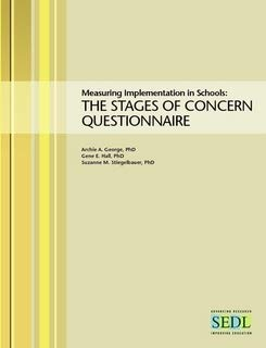 9780977720804: Measuring Implementation in Schools: The Stages of Concern Questionnaire