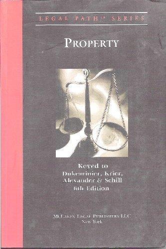 9780977985524: Property: Keyed to Dukeminier, Krier, Alexander, & Schill (Legal Path)