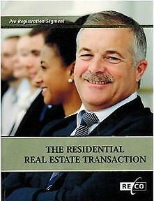 The Residential Real Estate Transaction-preregistration segment: The Real Estate Council of Ontario