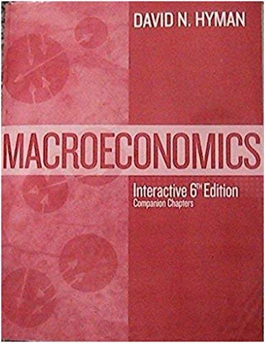 Macroeconomics Interactive 6th Edition: David N. Hyman